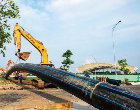 Dự án thi công tuyến ống D900 HDPE